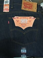 Levis 501 Shrink to Fit Big & Tall Raw Denim Jeans Button Fly 115010000 NWT