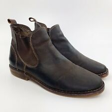 $ SAMPSON Brown MEN SZ 9.5M Ankle Boots DARK TAN Shoes D15 Bass Co G.H