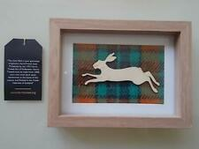HARRIS TWEED HARE PICTURE HANDMADE  **Reduced To £22**