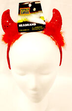 Sequined Devil Headband Horn Horns Costume Accessory 14' NIP