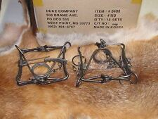 2 New Duke 110 body traps/muskrat/rabbit/mink trapping new sale