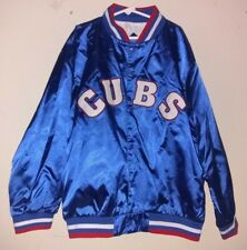 Vintage MLB Mighty Mac Chicago Cubs Satin Jacket Youth Boys Size Medium (12-14)