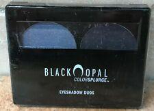 Black Opal ColorSplurge Eyeshadow Duo Eye Makeup MIDNIGHT ALLURE Blue 0.14oz New