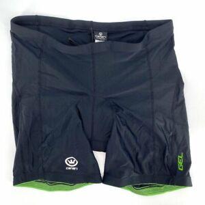 "Canari Women's Black Pro Gel 7"" XXL Comfort Bicycle High Waisted Shorts NWT"