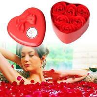 Romantic Soap Flower Bear Heart Tin Box Rose Flowers Valentine Day Gift x 1box