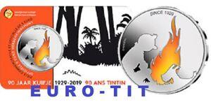 BELGIQUE PIECE  DE 5 EURO  COULEUR    TINTIN     6250  EX      2019   disponible