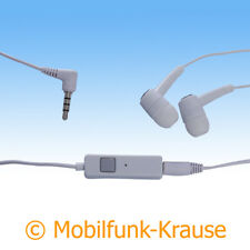 Headset Stereo In Ear Kopfhörer f. Sony Xperia Tipo (Weiß)