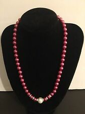 """NEW 8mm Wine Shell Pearl Necklace 18"""" AAA-P16"""