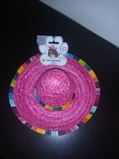 NWT RUBIES PET SHOP BOUTIQUE SOMBRERO HAT COSTUME FOR DOGS  PINK MEDIUM/LARGE
