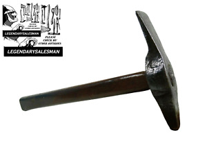 ARCHAEOLOGIST HAMMER 1800´S DECADE HAND FORGED OLD TOOL ANTIQUE 19TH CENTURY