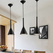 Black Pendant Light Bar Lamp Kitchen Chandelier Lighting Lobby Ceiling Lights