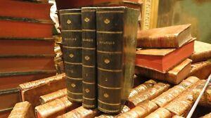 3 volumes livres botanique 1860 l abbé camiot 1860 rousseurs eparses 18cm