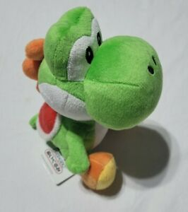 "Official 7"" Sanei YOSHI Mario Plush Nintendo Toy Japan Tagged 2009"