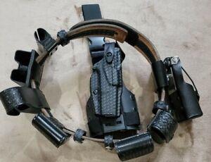 Safariland Duty Rig Size 34/36 Basketweave W/Glock 17/22 Drop Leg All Pouches RH