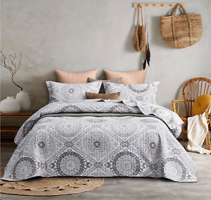 Round mandala Coverlet Quilted Patchwork quilted Queen/King Size Bedspreads Set