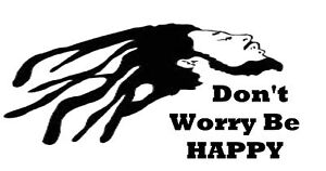 Don't worry ,be happy decal sticker wall ute BNS truck car