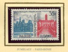 STAMP / TIMBRE FRANCE OBLITERE N° 1176 JUMELAGE PARIS-ROME