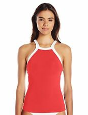Seafolly Block Party High Neck Singlet Chillired