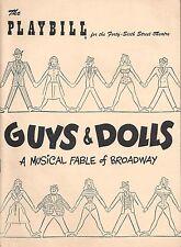 "Frank Loesser ""GUYS & DOLLS"" Vivian Blaine / Sam Levene 1951 Broadway Playbill"