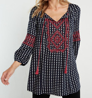 New White Stuff Amelia Boho Geometric Flattering Tunic Top RRP £49.95 Now £19.95