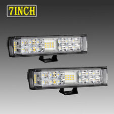 Pair Autofeel 7inch 816W LED Light Bar Super Slim Combo Spot Flood SUV Truck 6""