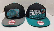 Lot of 2 Rare Vintage Vancouver Grizzlies New Era Adjustable Snapback Hat