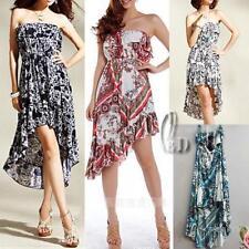 Regular Size Floral Polyester Asymmetrical Hem Dresses for Women