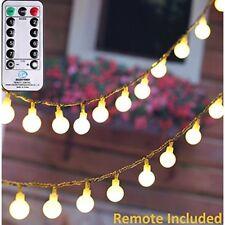SYNCHKG105911 UL Listed 33 Feet Crystal Ball 100 LED Globe String Lights Remote