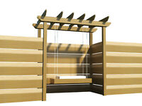 Pergola Swing Plans DIY Woodworking Outdoor Swinging Arbor Garden Porch Swings
