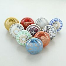 G Decor Set of 10 Rainbow Ceramic Door Knobs Vintage Shabby Chic Cupboard Drawer