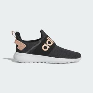 Adidas Womens Lite Racer Adapt Shoes Trainers Black /Pink/Grey EG3568