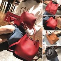 4PCS/Set Women Leather Tote Bag  Purse Shoulder Messenger Satchal Bags Handbag P