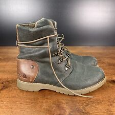 The North Face Women Combat Boots Ballard Lace II Size US 6.5 Olive Green Canvas