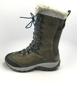 Merrell Thermo Rhea Tall Waterproof Olive Women's Winter Boots Sz 9.5 M