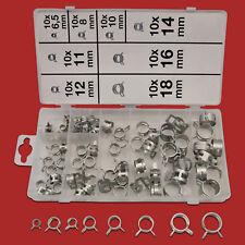 80 x Federbandschellen Sortiment Feder Schlauchschellen Set Schlauchklemmen Satz