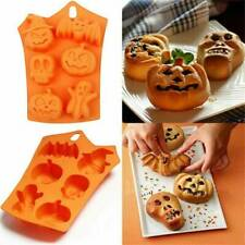 Halloween Pumpkin Silicone Mould Candle Cake Decoration Fondant Bake 3D DIY Mold