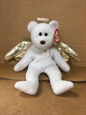 Rare TY Beanie Baby Babies Angel Bear HALO 2 II 2000 Error Nose Brown