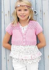 "Vintage Girls Pretty Bolero Knitting Pattern 24 - 34"" Age 2 upwards, DK60115"