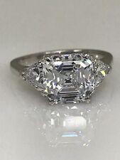 Asscher Cut Engagement Wedding Ring 3.50 ctw. White, Rose, Yellow 14k Gold #4949