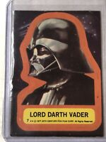 1977 Topps Star Wars Sticker Card #7 LORD DARTH VADER - Great Display Piece