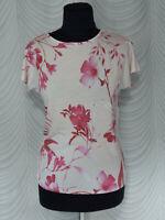 🔻 Ted Baker  Short Flutter Sleeve  Light Pink Floral T-shirt  Size 1