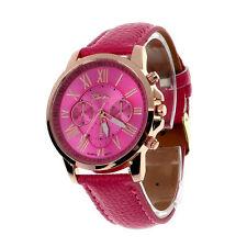 Luxury Women Fashion Watches Roman Leather Date Analog Quartz Wristwatch Ча��‹ UK