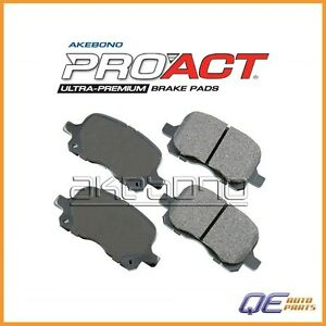 Front Disc Brake Pad Akebono ProAct D8741ACT for Chevrolet Prizm Toyota Corolla