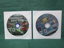 Lot Of 2:Fisherman's Bass Club/Socom Us Navy Seals(PlayStation 2 Ps2) Discs Only
