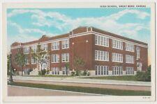 Old Great Bend Kansas Kans Ks Postcard High School
