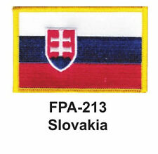"2-1/2'' X 3-1/2"" SLOVAKIA Flag Embroidered Patch"