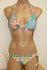 NWT Island Soul Swimsuit Bikini 2pc set Slide Halter Sz S Tie side