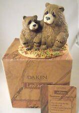 Dakin Artist Lou Rankin SOMEONE TO LEAN ON Papa Or Momma Bear And Cub Fab Eyes