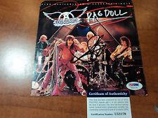 """STEVEN TYLER """" Aerosmith """" Hand Signed RAG DOLL CD COVER - PSA DNA COA AUTHENTIC"""