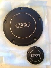 Black Harley 103 Contrast Cut Timer And Derby Cover Street Glide FLHX Fatboy LO